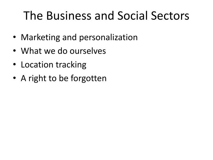 The business and social sectors