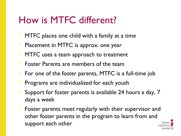 How is mtfc different
