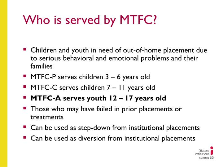 Who is served by MTFC?