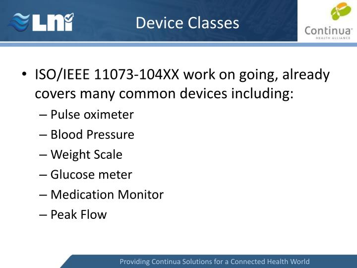 Device Classes