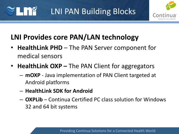 LNI PAN Building Blocks