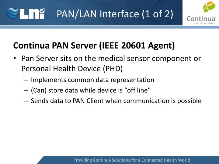 PAN/LAN Interface (1 of 2)