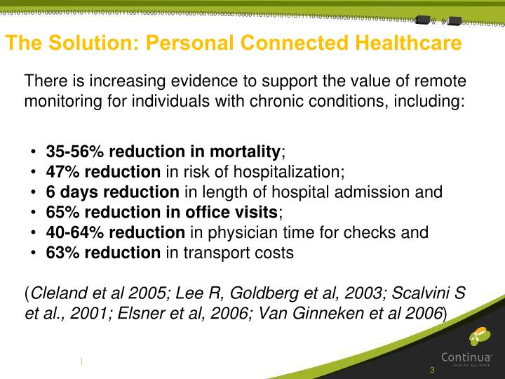 The solution personal connected healthcare