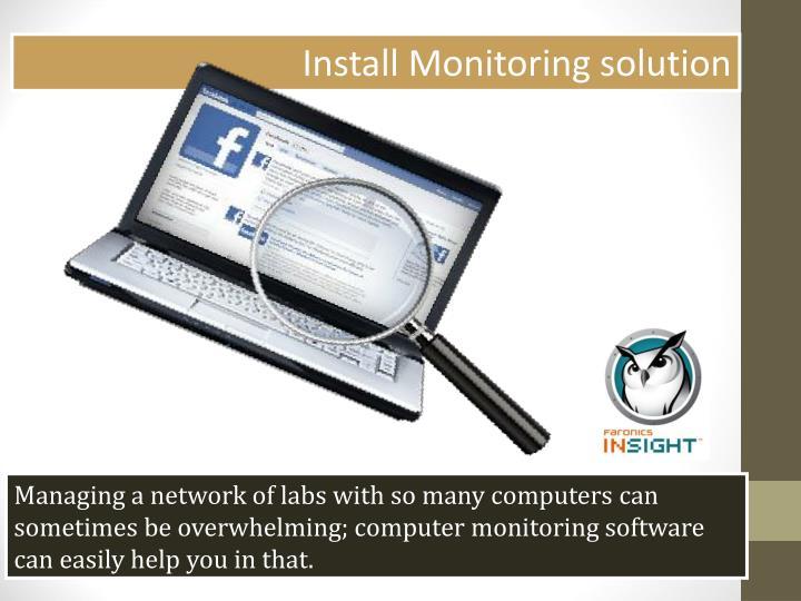 Install Monitoring solution