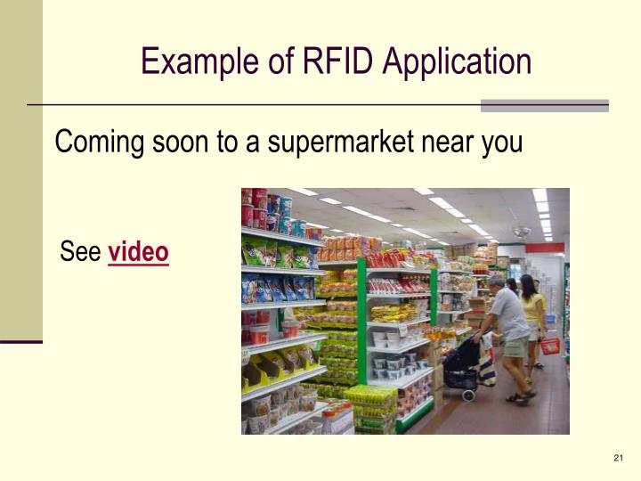 Example of RFID Application