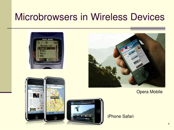 Microbrowsers in Wireless Devices