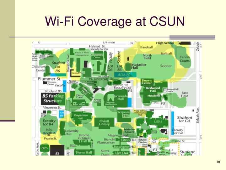 Wi-Fi Coverage at CSUN