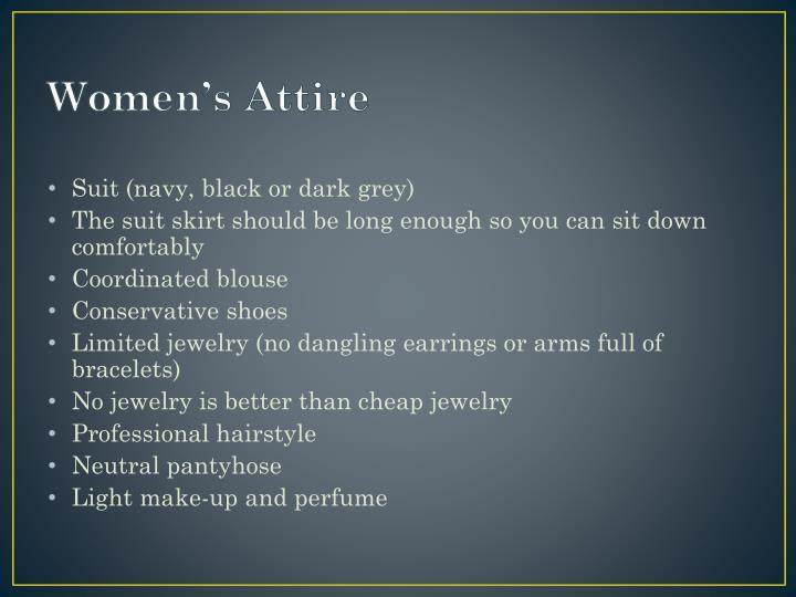 Women's Attire