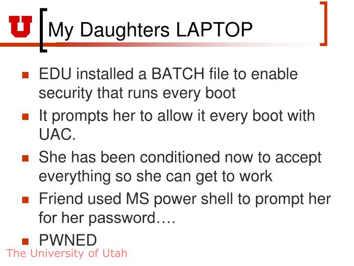 My Daughters LAPTOP