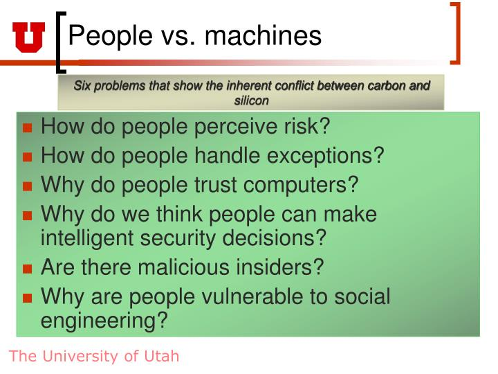 People vs. machines