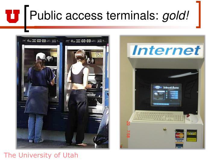 Public access terminals: