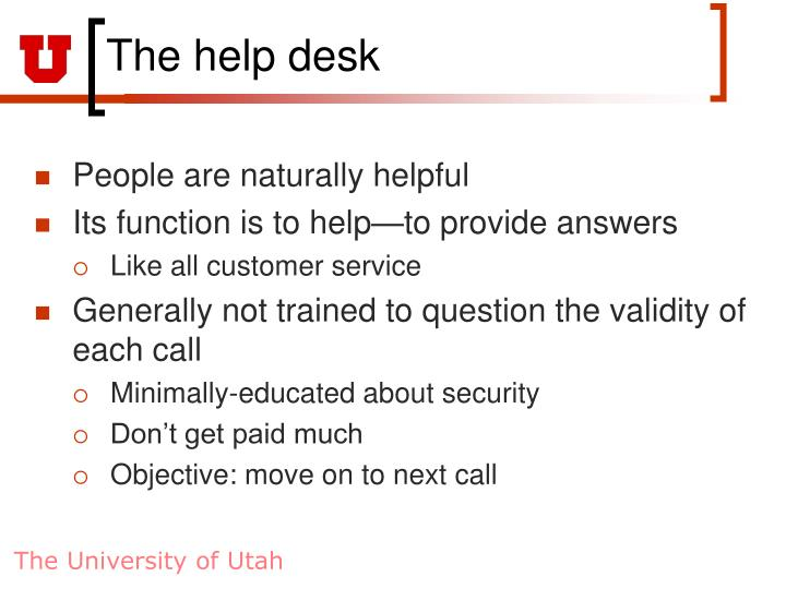The help desk