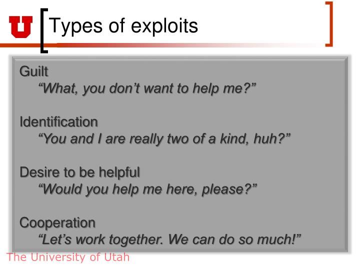 Types of exploits