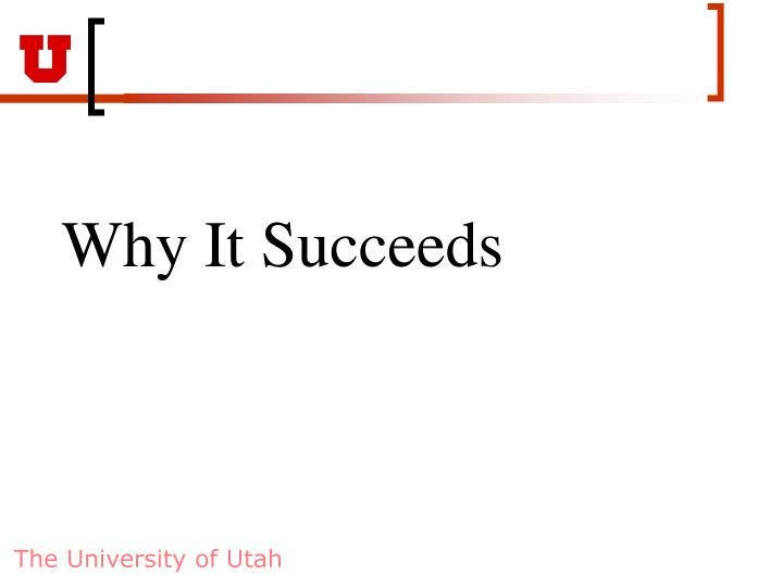 Why It Succeeds
