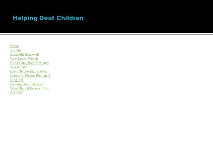 Helping Deaf Children