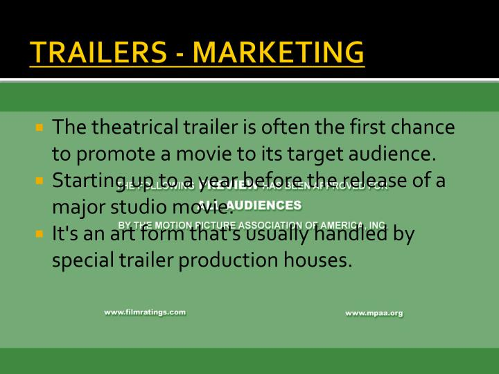 TRAILERS - MARKETING