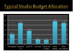 typical studio budget allocation