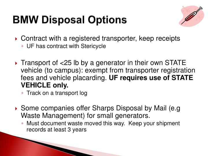 BMW Disposal Options