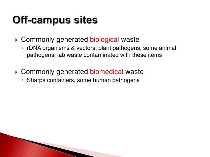 Off-campus sites