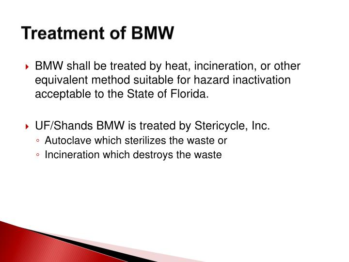 Treatment of BMW