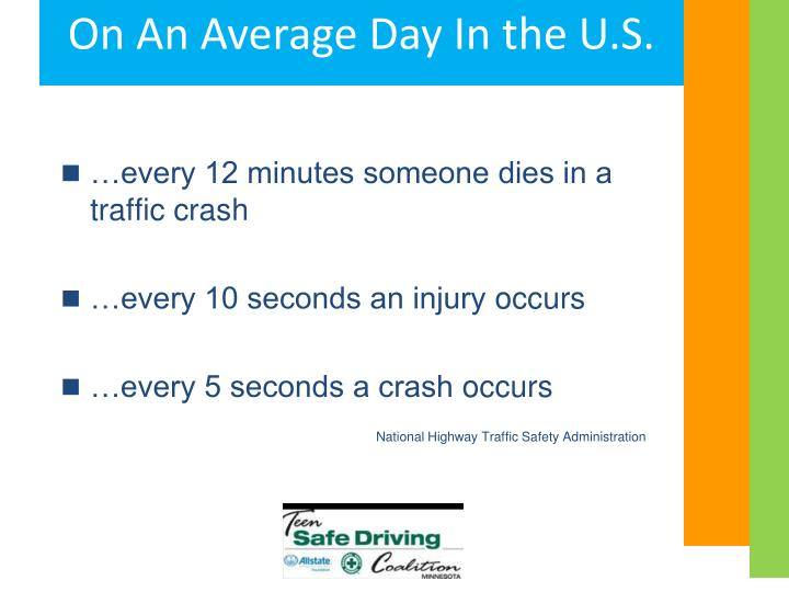 …every 12 minutes someone dies in a traffic