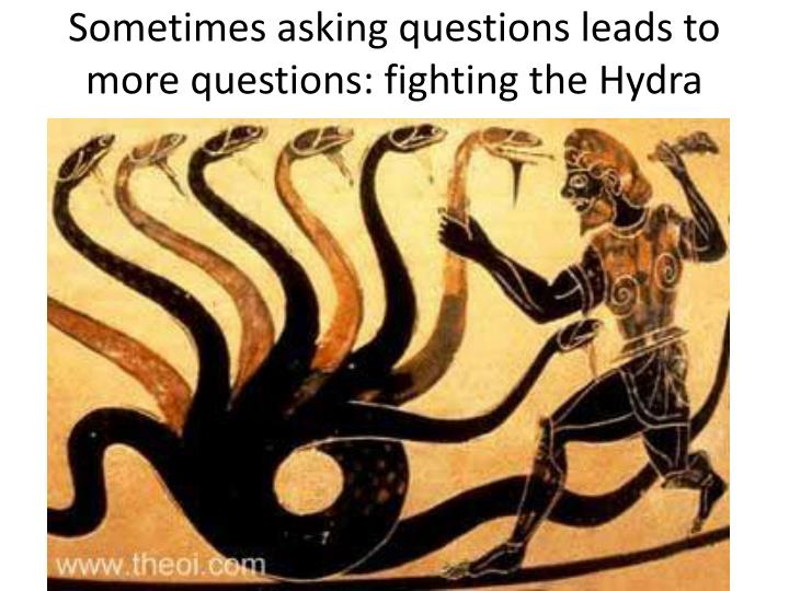 Sometimes asking questions leads to