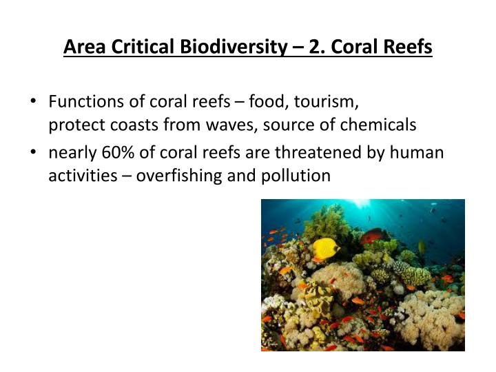 Area Critical Biodiversity – 2. Coral Reefs