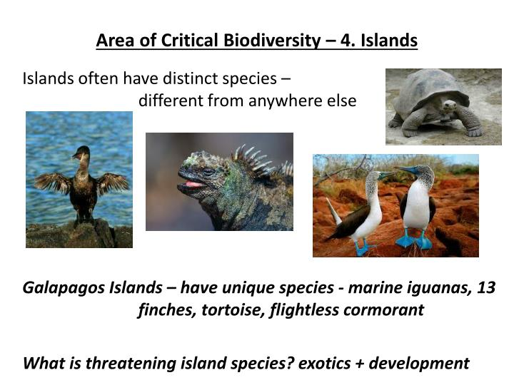 Area of Critical Biodiversity – 4. Islands