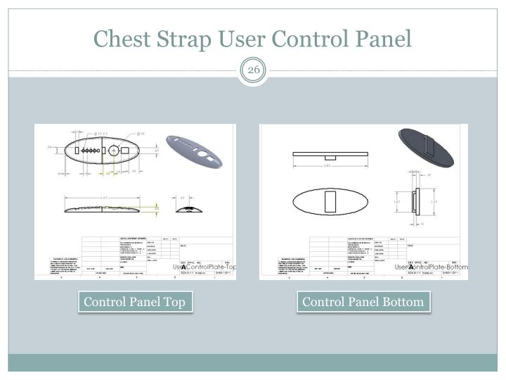 Chest Strap User Control Panel
