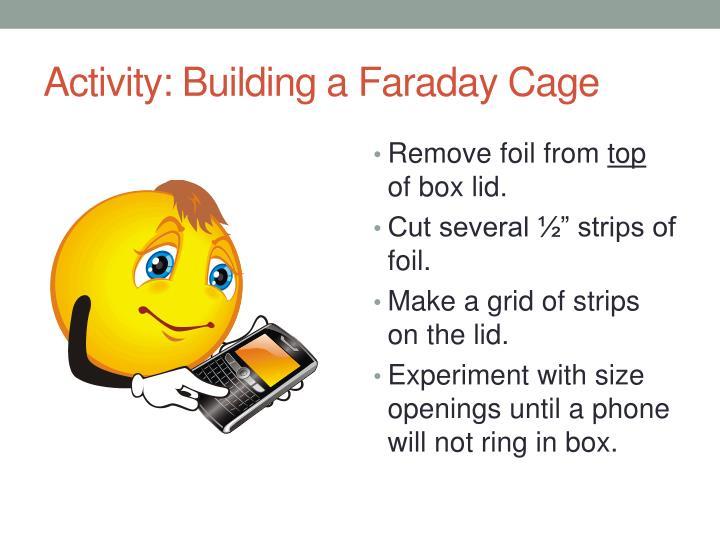 Activity: Building a Faraday Cage