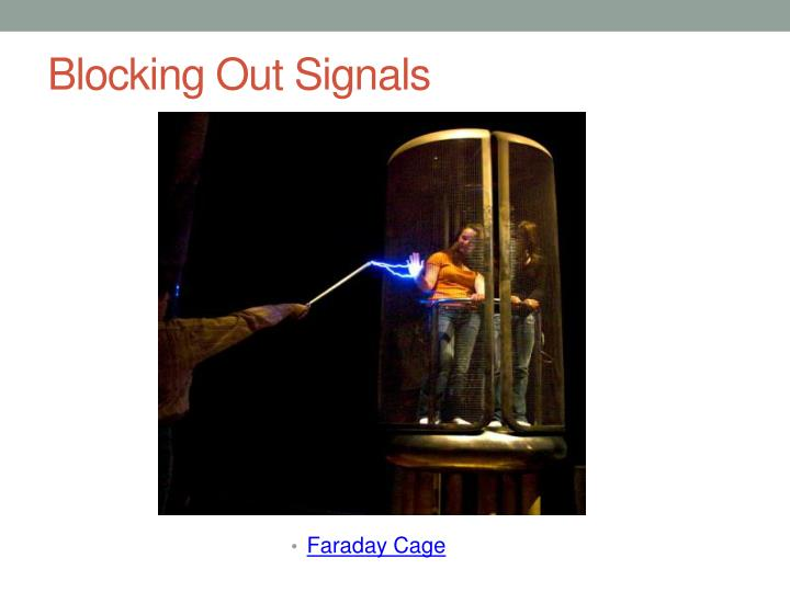 Blocking Out Signals