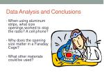 data analysis and conclusions