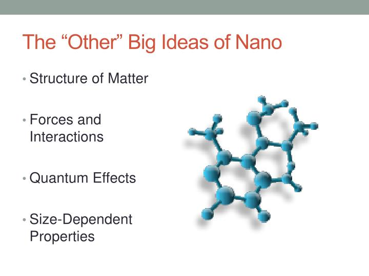 The other big ideas of nano