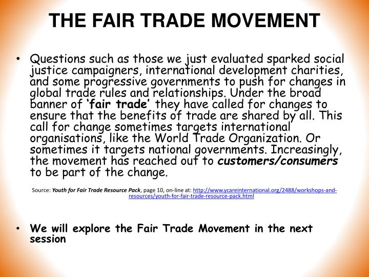 THE FAIR TRADE MOVEMENT
