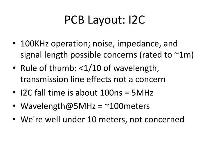 PCB Layout: I2C
