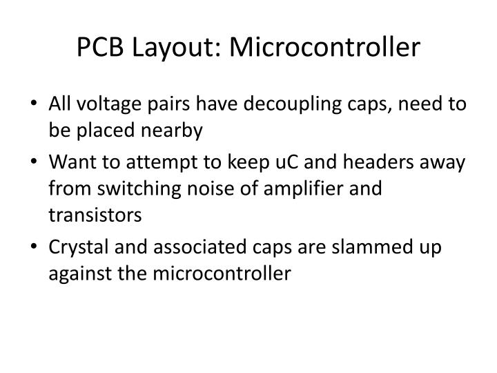 PCB Layout: