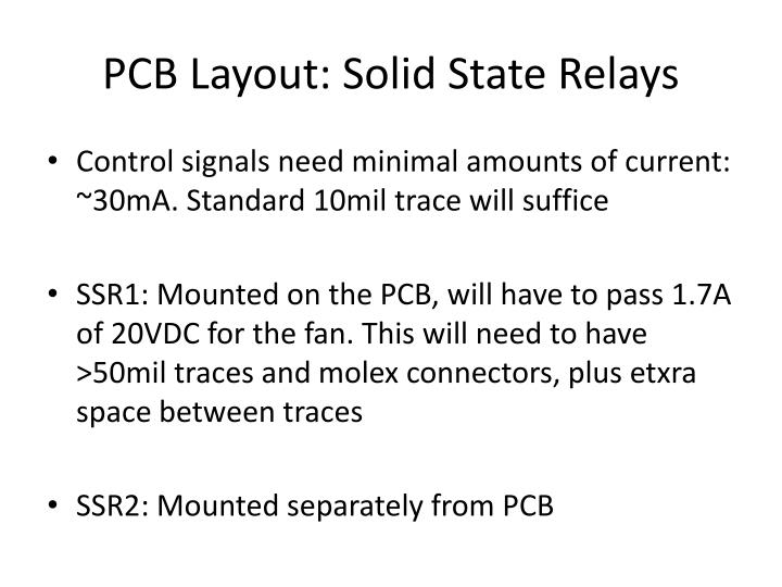 PCB Layout: Solid State Relays