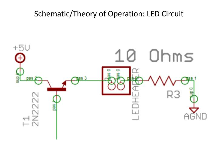 Schematic/Theory of Operation: LED Circuit