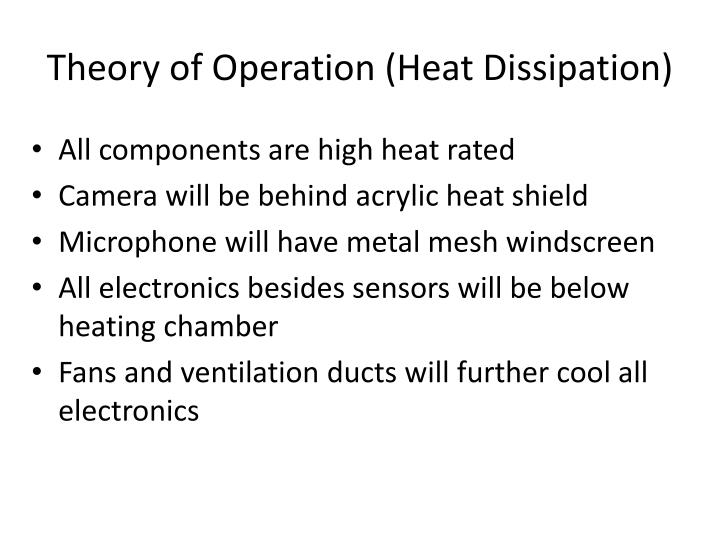 Theory of Operation (Heat Dissipation)