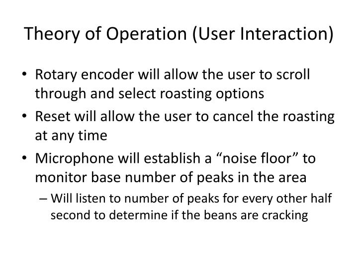 Theory of Operation (User Interaction)