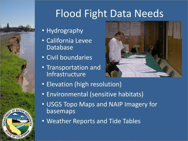 Flood Fight Data Needs