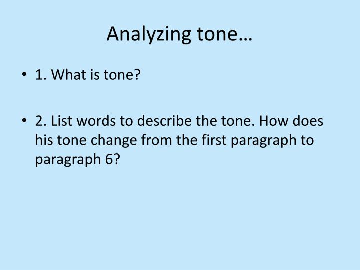 Analyzing tone…
