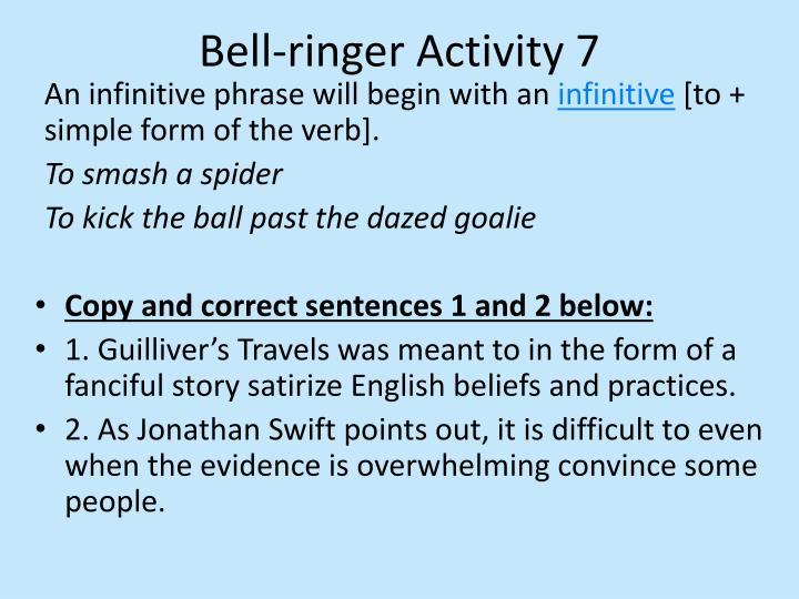 Bell-ringer Activity 7