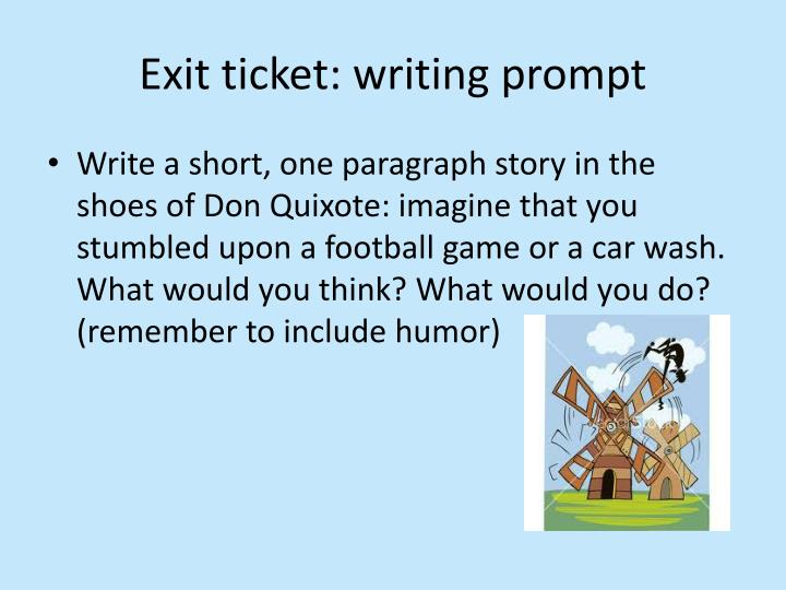 Exit ticket: writing prompt