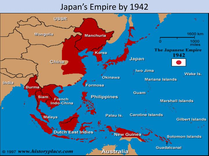 Japan's Empire by 1942