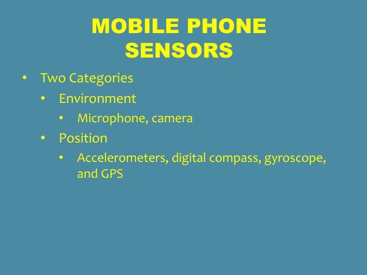 Mobile Phone sensors