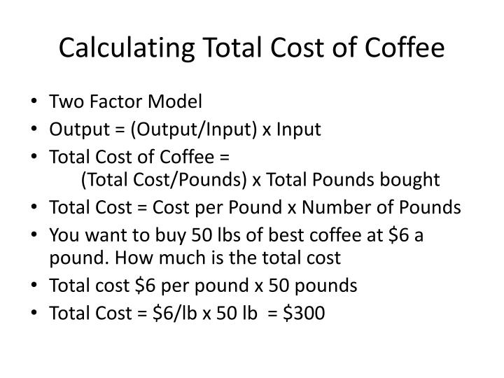 Calculating Total Cost of Coffee