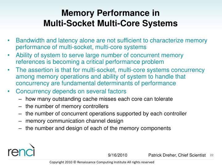 Memory Performance in