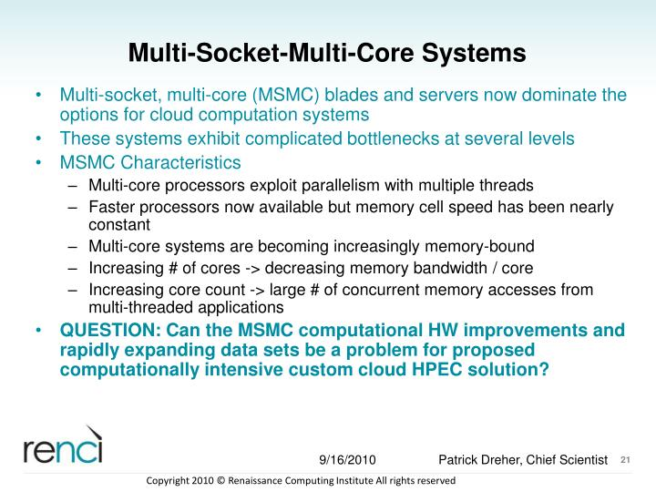 Multi-Socket-Multi-Core Systems