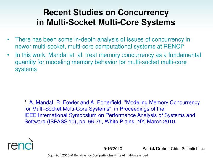Recent Studies on Concurrency